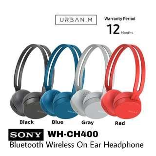 Sony WH-CH400 Bluetooth Wireless On-Ear Headphones