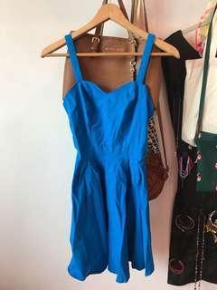 🚚 ASOS sweetheart skater dress in Brilliant blue