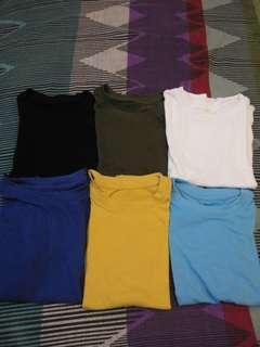 Uniqlo Plain Tshirt Take All