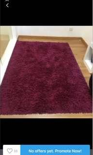 Purple ikea carpet