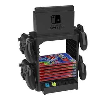 任天堂Switch多功能遊戲帶收納儲存架 Multifunction Game Card CD Storage Bracket Holder Stand Shelf for Nintend Switch