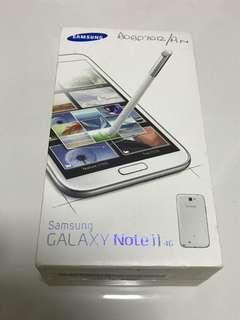 Samsung Galaxy Note 2 Note II 4G Empty Box (Marble White)