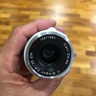 Carl Zeiss Biogon 35mm f2.8 ZM Chrome