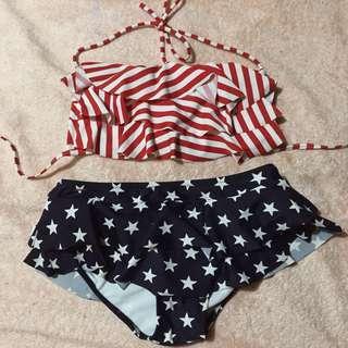 American Flag Two Piece Bikini