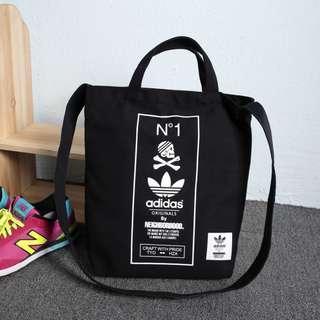 Instock! ADIDAS Original by The Neigborhood Two Way Carry Sling Tote Bag (Black) PO111500183 *GWP Japanese Magazine* +  FREE Post
