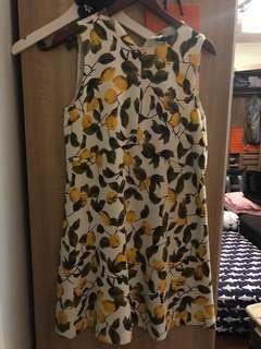 Zara lemon dress