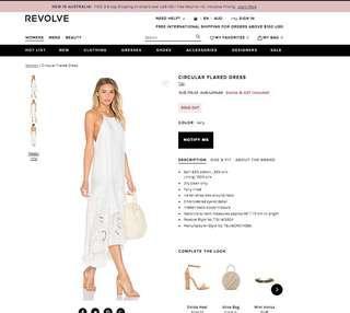 Revolve Tibi white circular flared dress