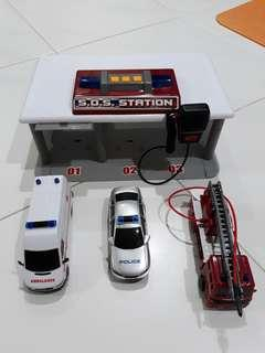 Police, Ambulance and Fire Engine toys for boy