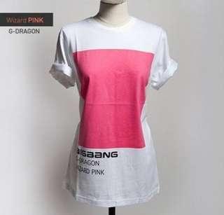 BIGBANG (빅뱅) 2012 Still Alive T-shirt Special Edition (Wizard Pink / G-Dragon Version)
