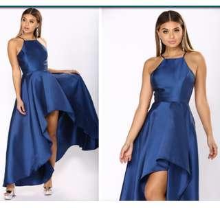 Fashion nova royal blue gown xs