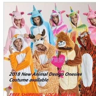 🚚 INSTOCK New 2018 Arrival Animal Design Onesies *Cosplay Costumes*Halloween Costumes
