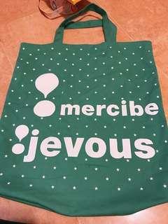 日本 Mercibeaucoup Jevous Tote Bag 布袋 綠色