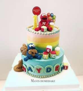 Sesame Street cake Elmo cake monster cookies cake