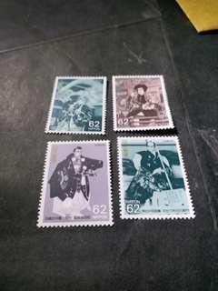 日本郵票4個