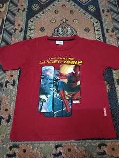 Kaos spiderman marvel 8T preloved