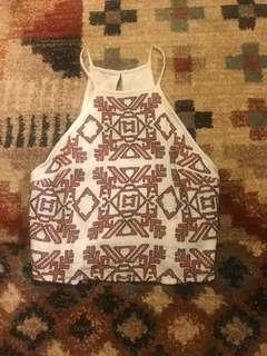 Abercrombie & Fitch crop top tribal print