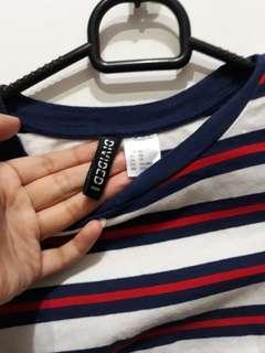 H&M stripe cloth