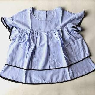 Ruffled Piped Blouse
