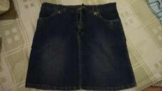 Rok jeans bahan stretch