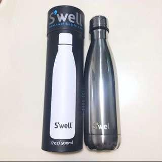 ‼️美國 著名Swell 保暖保溫瓶 熱水壺 真空樽 冷熱水樽 Thermos bottle Silver 銀色 復古