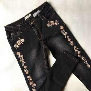Embroidered Stretchable Jeans