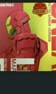 Hot Toys 1/6 Iron Man 3 Mark 15 MK XV Sneaky Retro Armor Version MMS396