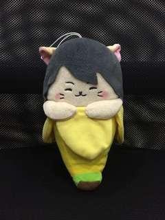 Kaji yuki bananya banana cat plush soft toy japan