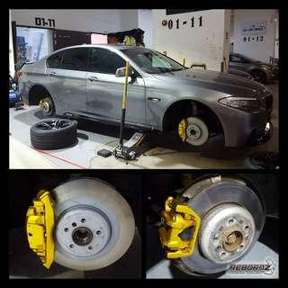 Calipers spraying... (Candy Yellow)
