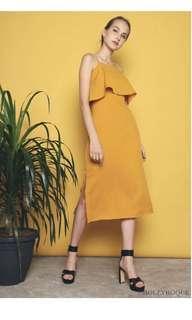 Hollyhoque AVRI FLAP SLIT DRESS SUNSHINE Size M