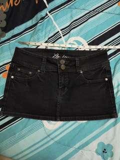 Black denim short skirt