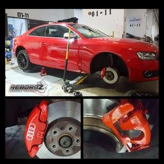 Calipers spraying (chilli Red)