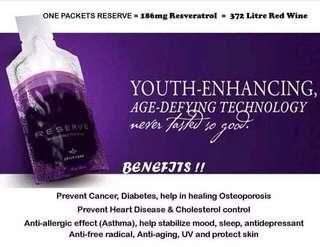 Reverse the aging process, help add years to your life, avoid heart attack, cancer, obesity and other preventable diseases