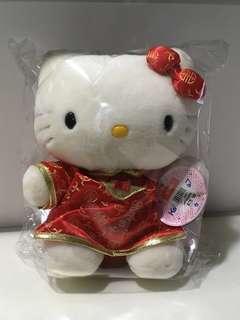 NEW Sanrio Original 1999 Hello Kitty Chinese New Year Red Cheongsam Plush Stuffed Plushie Soft Toy
