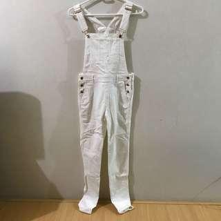 White x Rose Gold Overalls