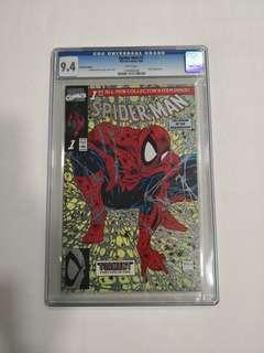 Spiderman #1, Platinum Edition, CGC 9.4