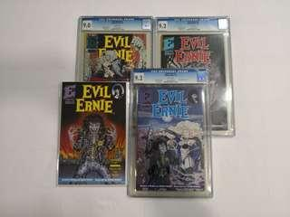 Evil Ernie 1, 2, 3, 4, Eternity 1991, CGC