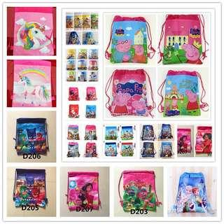 Children's Day SPECIAL - kids draw string goodie bags / backpack / party gifts