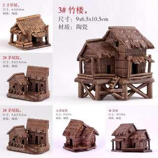 Bonsai Accessories: Miniature House Aquarium Decor