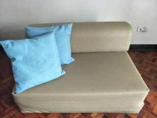 sofa bed with german foam and leather