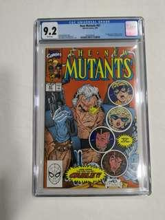 New Mutants #87, CGC 9.2, 1st Appearance of Cable