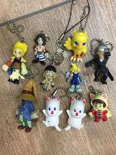 Final fantasy keychains figures