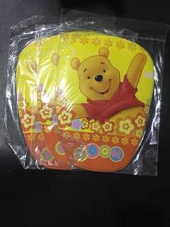 3 Pcs Winnie Pooh Yellow Boys Girls Mousepad Coaster Blink Sparkle Matt Table Mat Dish Placemat Pad