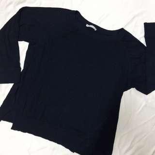 Zara Navy Blue Thin Sweater