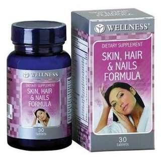 WELLNESS DIETARY SUPPLEMENT 'SKIN, HAIR & NAILS FORMULA'