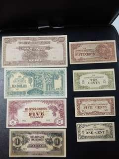 Japanese Occupation Bank Notes
