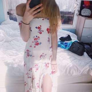 Minkpink White Floral Maxi Dress