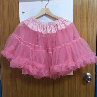 Lolita cosplay pink tutu/tulle under skirt