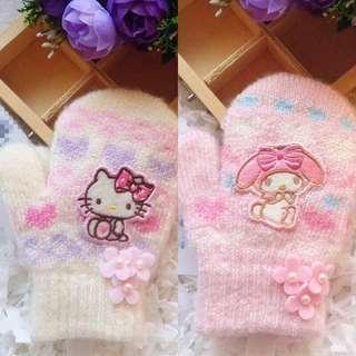 Hello Kitty/ Melody女童手套