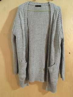 Ally Fashion Oversize Cable Cardigan with Pockets