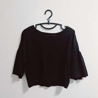 The Editor's Market Bell Sleeve Crop Top
